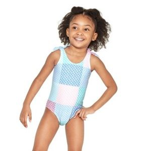 Patchwork Whale One Piece Swimsuit